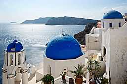 greece blue domes