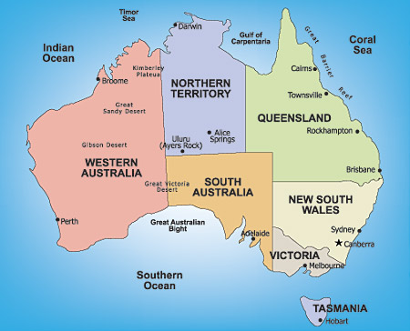 Australia Honeymoon Regions
