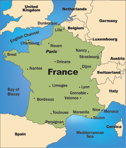 France On The Map Recana Masana
