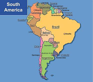 South America Honeymoon Regions